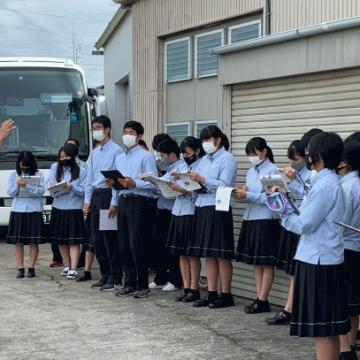 県立湖北高校2年生の見学!