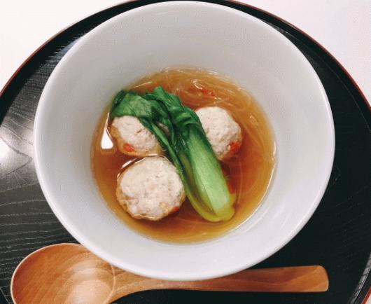 ミニちんげんの肉団子スープ