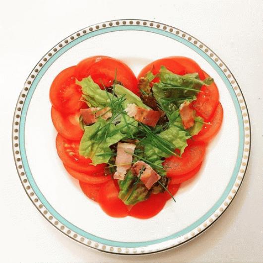 バレンタインにハートサラダ。
