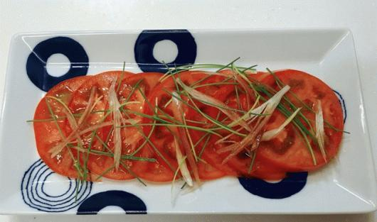 トマトのカルパッチョ風