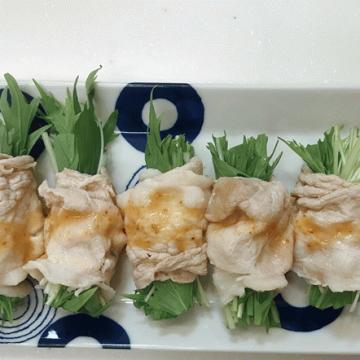 サラダ水菜の冷しゃぶ巻き