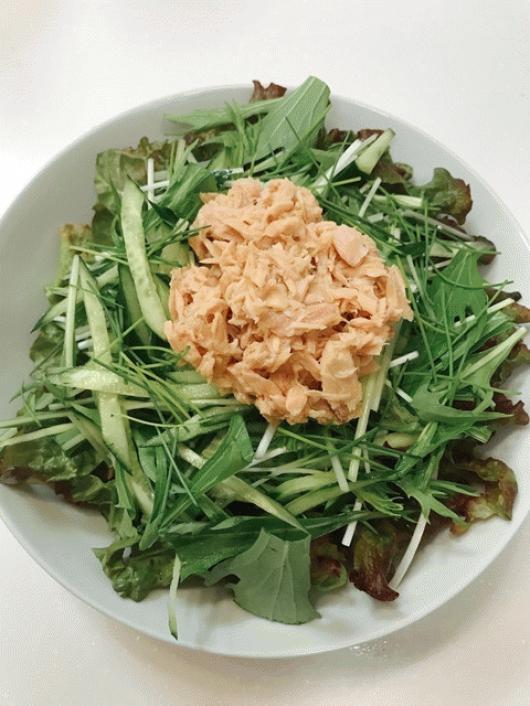 サラダ水菜と姫ねぎのサラダ!